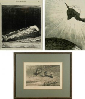 Honore Daumier (1808-1879) French & Others (four)