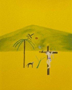 Craigie Aitchison (1926-2009) Indian Crucifixion