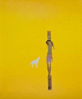 Craigie Aitchison (1926-2009) Crucifixion