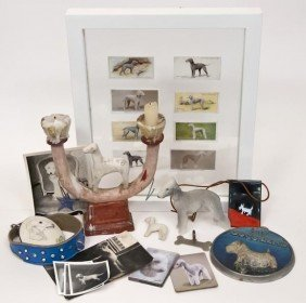 A Selection Of Bedlington Terrier Objects And Pho