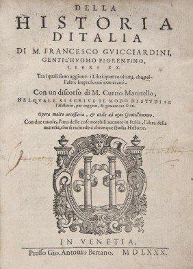 Guicciardini (Francesco) Della Historia D'Italia