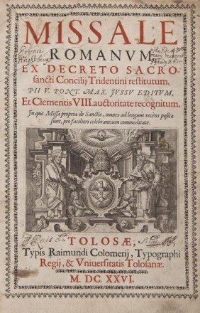 Missal. Missale Romanum Ex Decreto Sacrosancti Con