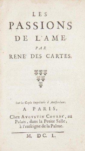 Descartes (Ren�) Les Passions De L'Ame