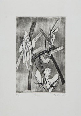 Stanley William Hayter (1901-1988) Pavane (B.M.91)