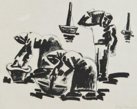 Josef Herman (1911-2000) Cockle Gatherers