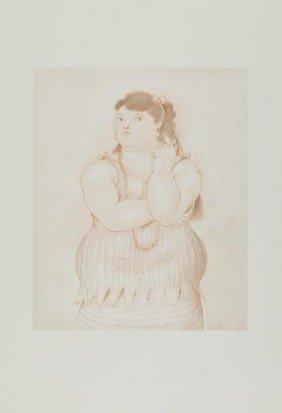 Fernando Botero (b.1932) Mujer Fernando