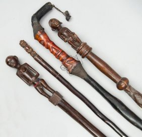 A Group Of Four Canes