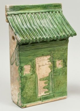 A Chinese Green Glazed Pottery Model Of A House F
