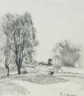 Sir George Clausen RA (1852-1944) Landscape