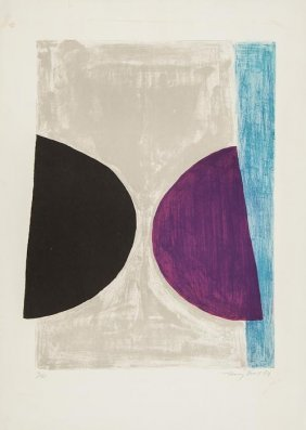 Sir Terry Frost (1915-2003) Black, Purple And Blue