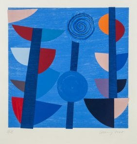Sir Terry Frost (1915-2003) Tolcarne Moon Blue New
