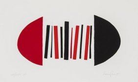 Sir Terry Frost (1915-2003) Red And Black Squeeze