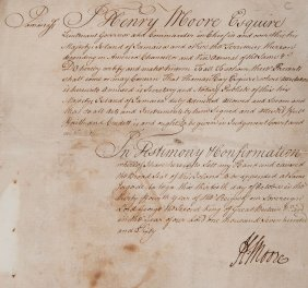 Jamaica.- - Moore Certificate Attesting That Thomas Hay