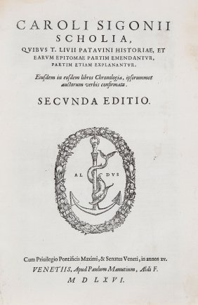 Sigonius (carolus).- Livius (titus) - Scholia,quibus T.