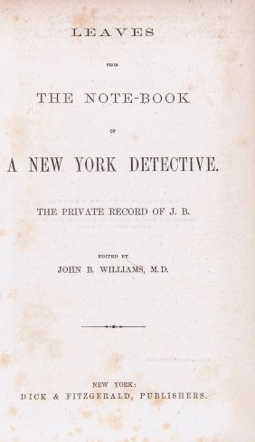 Williams - Leaves From The Note-book Of A New York