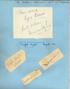 Autograph Album - Incl. Vivien Leigh - Autograph Album