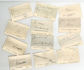Autograph Collection - British Peers - Collection Of