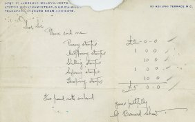 Shaw, George Bernard - Autograph Letter Signed On Paper
