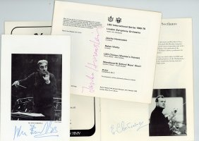 Conductors - Group Of Four Concert Programmes Signed By