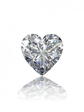 Gia Cert 0.61 Ctw Heart Diamond E/si2