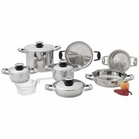 Chef's Secret 13pc Stainless Steel Cookware Set