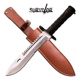 "Survivor Fixed Blade Knife 12.8"" Overall"