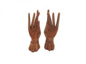 Hand Made Wooden Hands