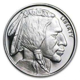 1/2 Oz Silver Round - Buffalo