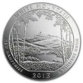 2013 5 Oz Silver Atb White Mountain National Park, Nh