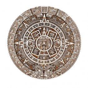 Aztec Calendar Plaque