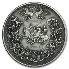 2015 Great Britain 8 Oz Silver Battle Of Waterloo Medal