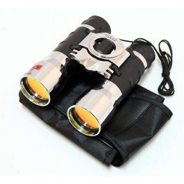 16x42 Chrome And Black Binocular; Comes With Lense Clea