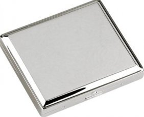 Visol View Stainless Steel Double Sided Cigarette Case