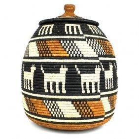 Zulu Wedding Basket - 61 - Ilala Weavers