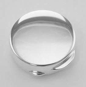 Premium Hand Made Italian Round Sterling Silver Engrava
