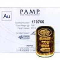 Pamp Suisse 100 Gram Gold Bar - Poured Design