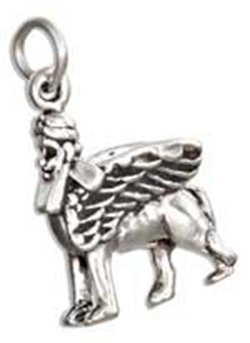 Sterling Silver 3d Griffin Charm