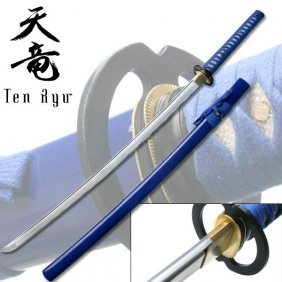 "Blue 40"" Handforged Carbon Steel Blade Samurai Sword"