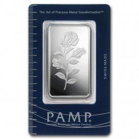50 Gram Silver Bar - Pamp Suisse (rosa)