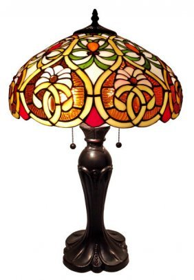 Tiffany Style Victorian Table Lamp 24 Inches