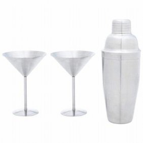 3pc Stainless Steel Martini Set