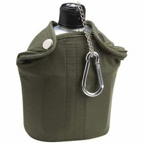 Maxam 32oz Aluminum Canteen With Cover And Cup