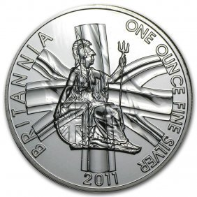 1 Oz Silver Britannia (abrasions, Random Year)