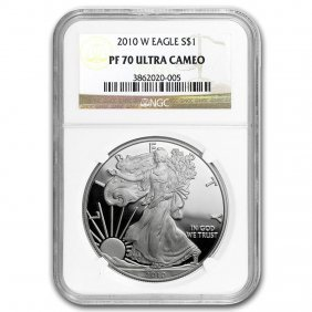 2010-w Proof Silver American Eagle Pf-70 Ngc