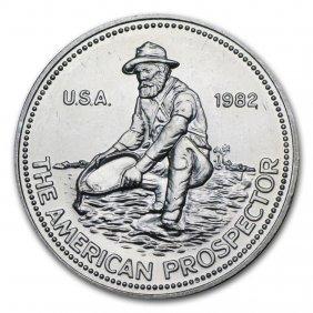 1 Oz Silver Round - Engelhard Prospector (random Year)