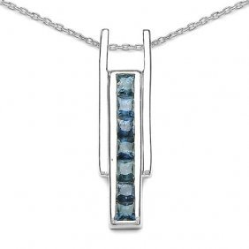 Sapphire Blue:square/2.70-2.80mm 7/1.05 Ctw