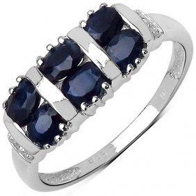 Sapphire Black: + Topaz White:round/0.90mm 2/0.01 Ctw