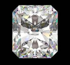 Gia Cert 1.01 Ctw Radiant Diamond E/if