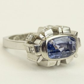 Approx. 8.65 Carat Natural Unheated Ceylon Sapphire And