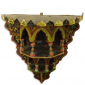 20th Century Probably Indian Polychrome Painted Wood